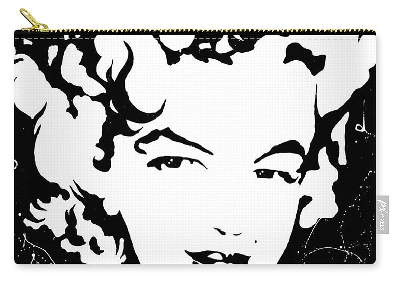 Portrait Carry-all Pouch featuring the painting Marilyn Monroe by Curtiss Shaffer