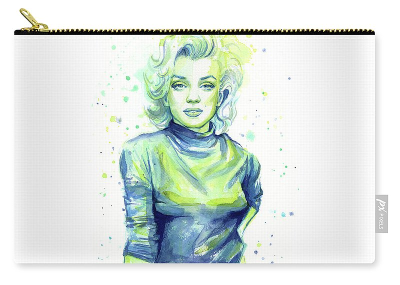 Iconic Carry-all Pouch featuring the painting Marilyn Monroe by Olga Shvartsur