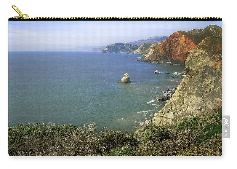 Ocean Carry-all Pouch featuring the photograph Marin Headlands 1 by Karen W Meyer