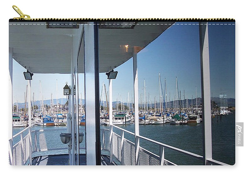 Marina Carry-all Pouch featuring the photograph Marina Mirror by Donna Blackhall