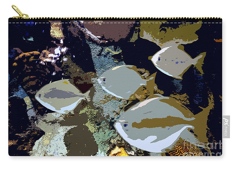 Marine Life Carry-all Pouch featuring the painting Marine Life by David Lee Thompson