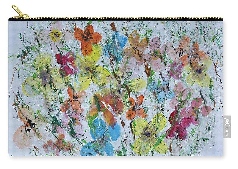 Butterflies Carry-all Pouch featuring the painting Mariposas De La Isla by Alfredo Correa