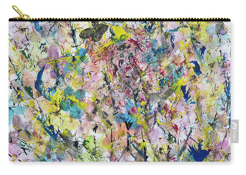 Surreal Carry-all Pouch featuring the painting Mariposas En Tu Alma by Alfredo Correa