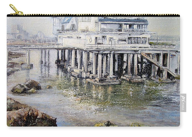 Maritim Carry-all Pouch featuring the painting Maritim Club Castro Urdiales by Tomas Castano