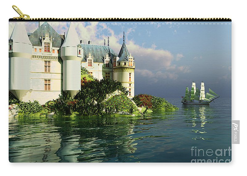 Ancient Carry-all Pouch featuring the painting Maritime by Corey Ford