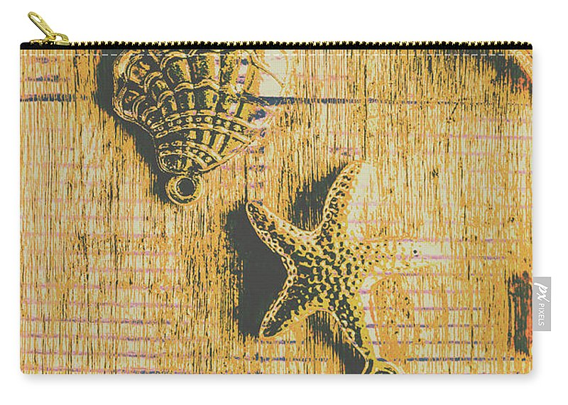 Sea Carry-all Pouch featuring the photograph Maritime Sea Scroll by Jorgo Photography - Wall Art Gallery