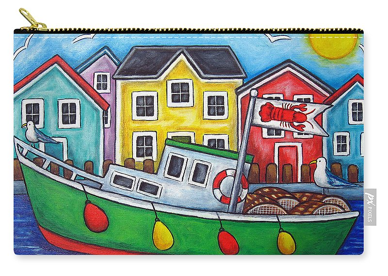 Lisa Lorenz Carry-all Pouch featuring the painting Maritime Special by Lisa Lorenz