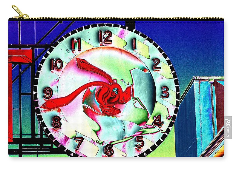 Seattle Carry-all Pouch featuring the photograph Market Clock 2 by Tim Allen