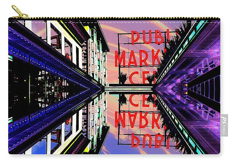 Seattle Carry-all Pouch featuring the digital art Market Entrance by Tim Allen