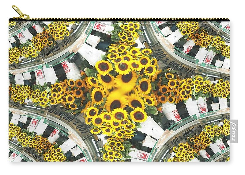 Flowers Carry-all Pouch featuring the photograph Market Flowers by Tim Allen