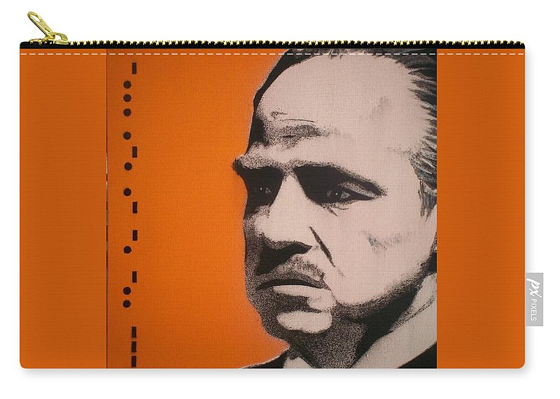 The Godfather Carry-all Pouch featuring the painting Marlon Brando by Gary Hogben