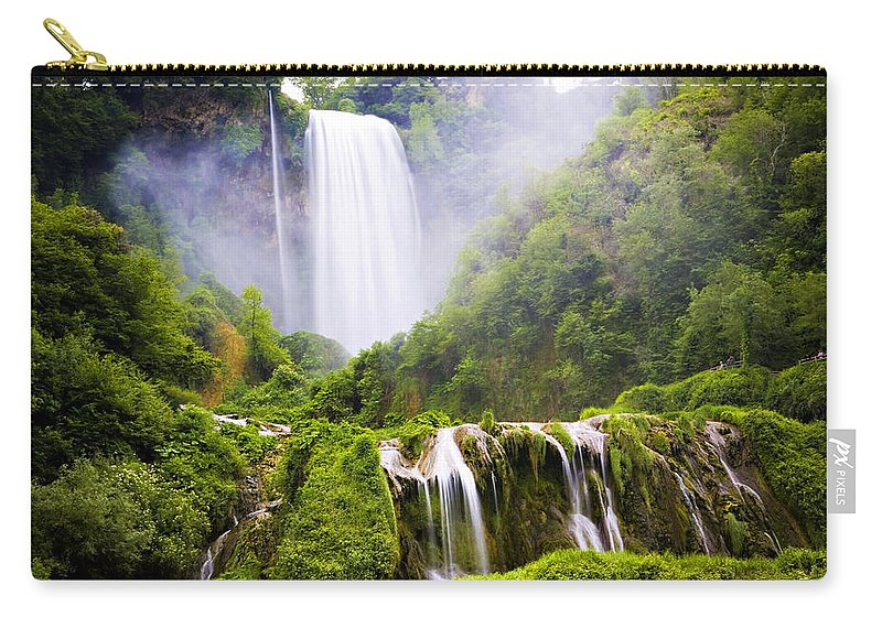 Italy Carry-all Pouch featuring the photograph Marmore Waterfalls Italy by Marilyn Hunt