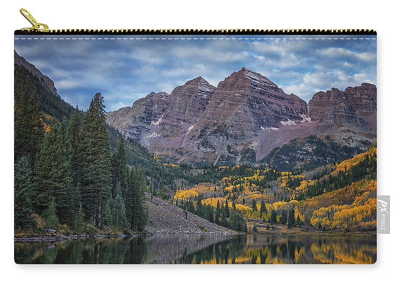 Colorado Carry-all Pouch featuring the photograph Maroon Bells Colorado Dsc06628 by Greg Kluempers