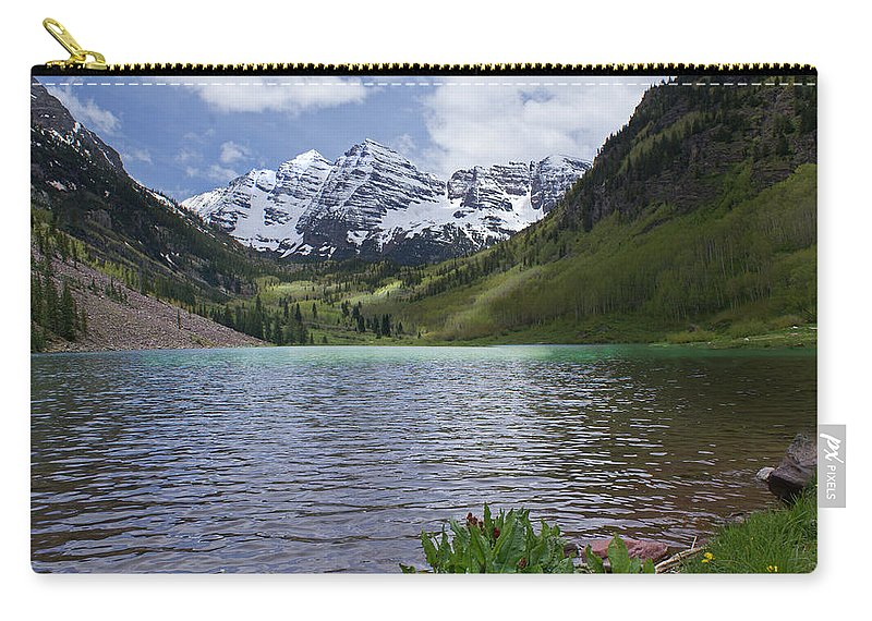 Aspen Carry-all Pouch featuring the photograph Maroon Bells Spring by Heather Coen