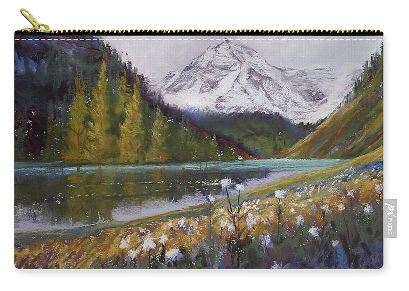Maroon Lake Carry-all Pouch featuring the photograph Maroon Lake by Heather Coen
