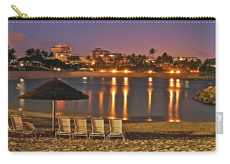 Marriott Carry-all Pouch featuring the photograph Marriott Lagoon by Michael Peychich