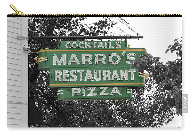Marro's Carry-all Pouch featuring the photograph Marro's Restaurant by Jost Houk