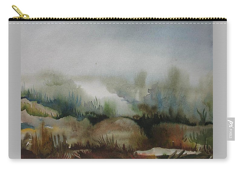 Marsh Carry-all Pouch featuring the painting Marsh by Anna Duyunova