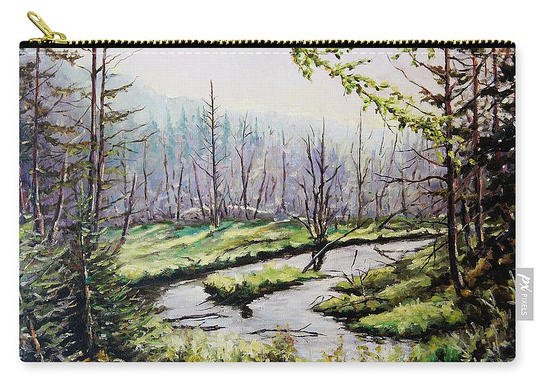 Art Carry-all Pouch featuring the painting Marsh Lands by Richard T Pranke