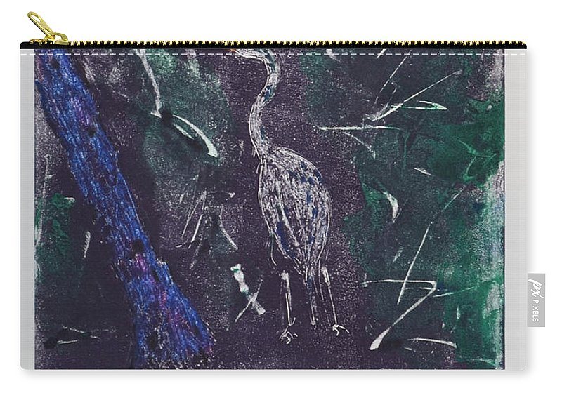 Monotype Carry-all Pouch featuring the mixed media Marsh Magic by Cori Solomon