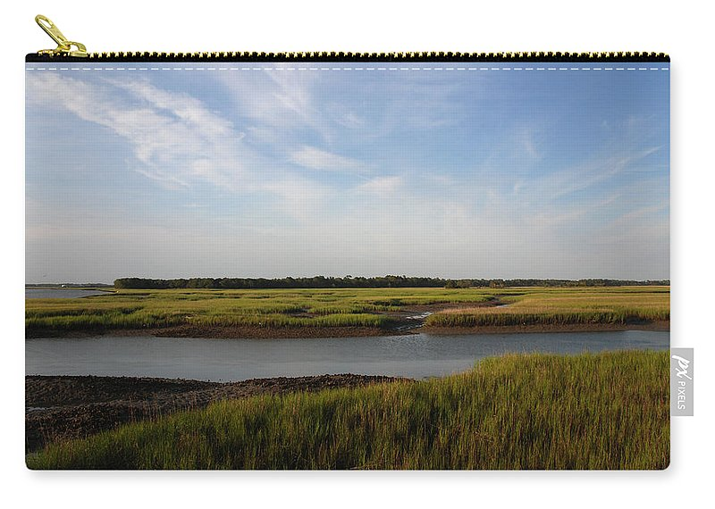 Photography Carry-all Pouch featuring the photograph Marsh Scene Charleston Sc by Susanne Van Hulst