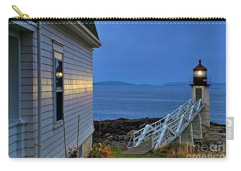 Maine Carry-all Pouch featuring the photograph Marshall Point Lighthouse by John Greim
