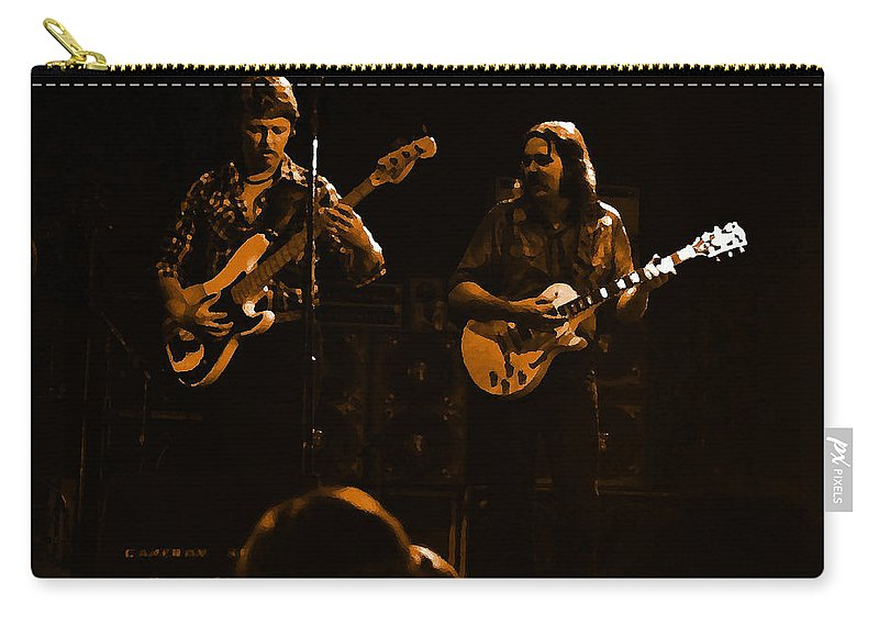 Marshall Tucker Carry-all Pouch featuring the photograph Marshall Tucker Winterland 1975 #36 Enhanced In Amber by Ben Upham