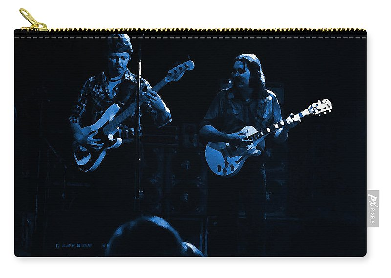 Marshall Tucker Carry-all Pouch featuring the photograph Marshall Tucker Winterland 1975 #36 Enhanced In Blue by Ben Upham