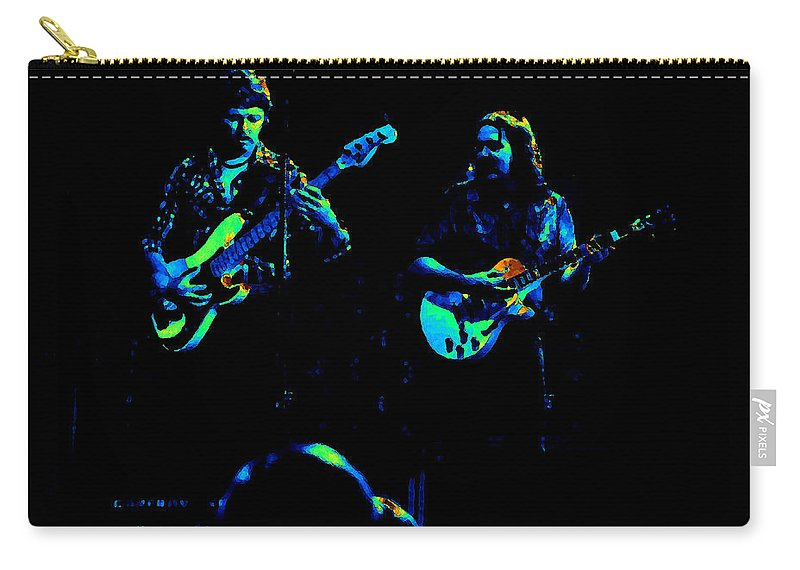 Marshall Tucker Carry-all Pouch featuring the photograph Marshall Tucker Winterland 1975 #36 Enhanced In Cosmicolors With Text by Ben Upham