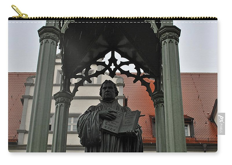 Wittenberg Carry-all Pouch featuring the photograph Martin Luther In Market Square by Jost Houk
