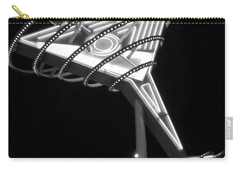 Martini Carry-all Pouch featuring the photograph Martini Sign B-w by Anita Burgermeister