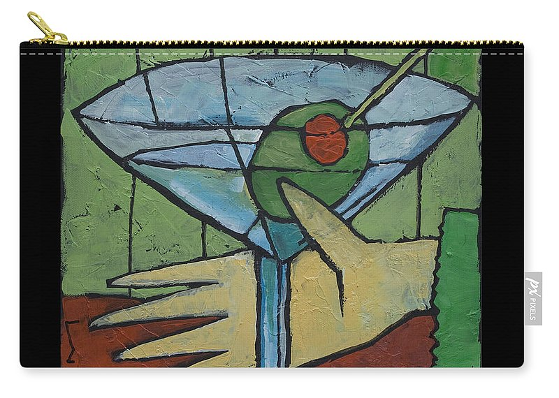 Martini Carry-all Pouch featuring the painting Martini Time - Within Reach by Tim Nyberg