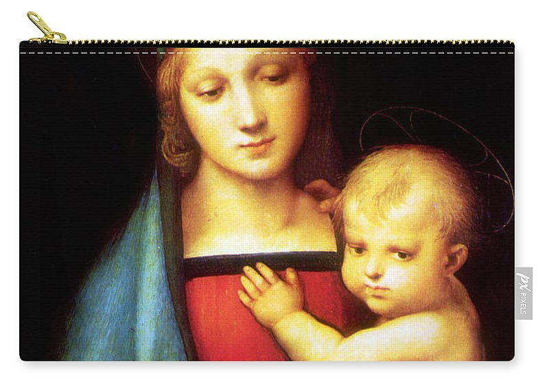 Mary Carry-all Pouch featuring the photograph Mary And Baby Jesus by Munir Alawi