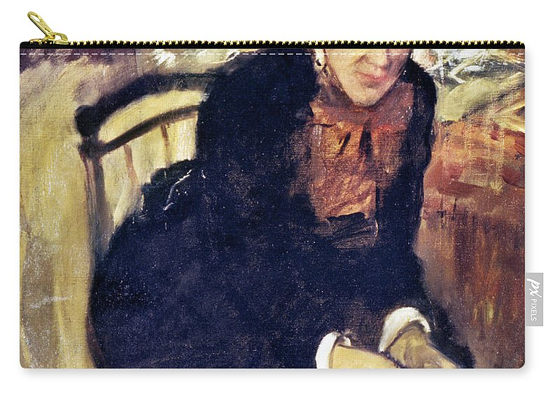 1880 Carry-all Pouch featuring the photograph Mary Cassatt (1845-1926) by Granger