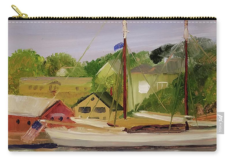 Mary Day Carry-all Pouch featuring the painting Mary Day by Susan Hanna