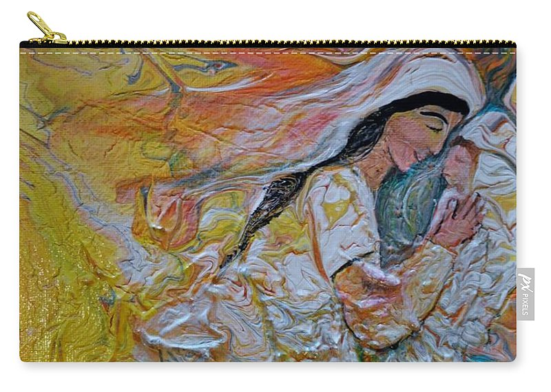 Mary Carry-all Pouch featuring the painting Mary Did You Know by Deborah Nell