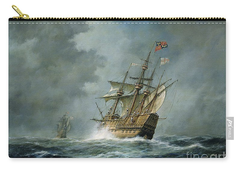 Mary Rose Carry-all Pouch featuring the painting Mary Rose by Richard Willis