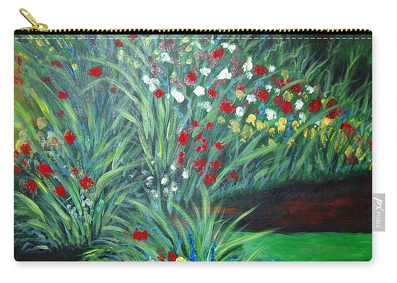 Landscape Carry-all Pouch featuring the painting Maryann's Garden 3 by Nancy Mueller