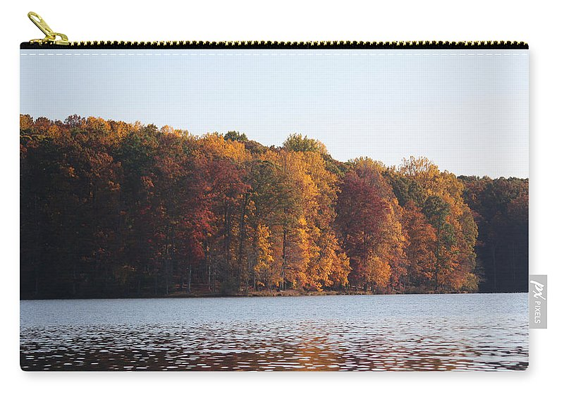 Maryland Carry-all Pouch featuring the photograph Maryland Autumns - Clopper Lake - Fall Bloom by Ronald Reid