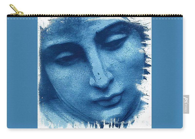 Blue Carry-all Pouch featuring the photograph Marys Blues by Jane Linders
