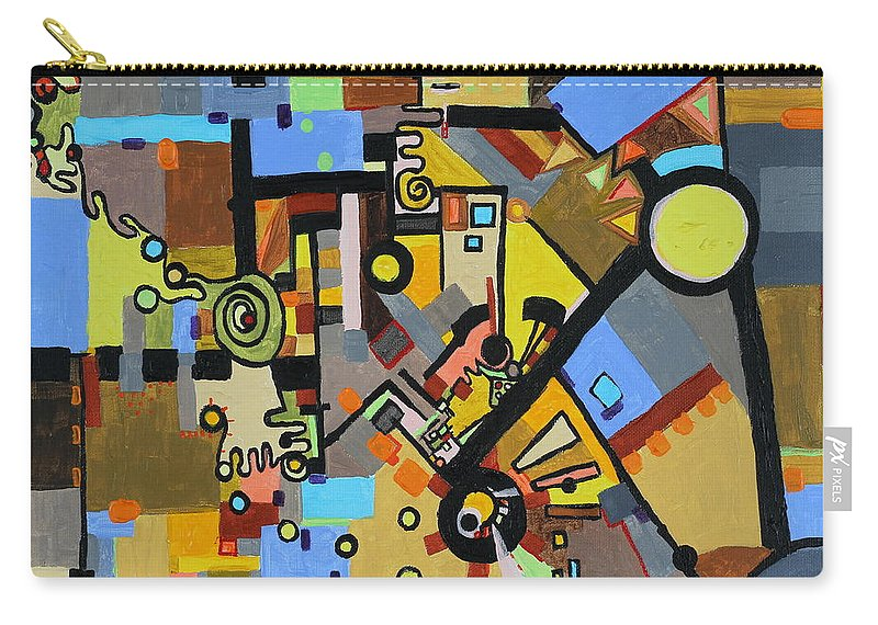 Juxtaposition Carry-all Pouch featuring the painting Masculine And Feminine by Regina Valluzzi