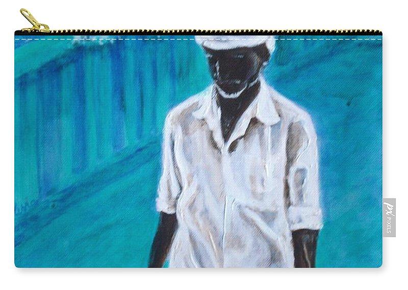 Usha Carry-all Pouch featuring the painting Mason by Usha Shantharam