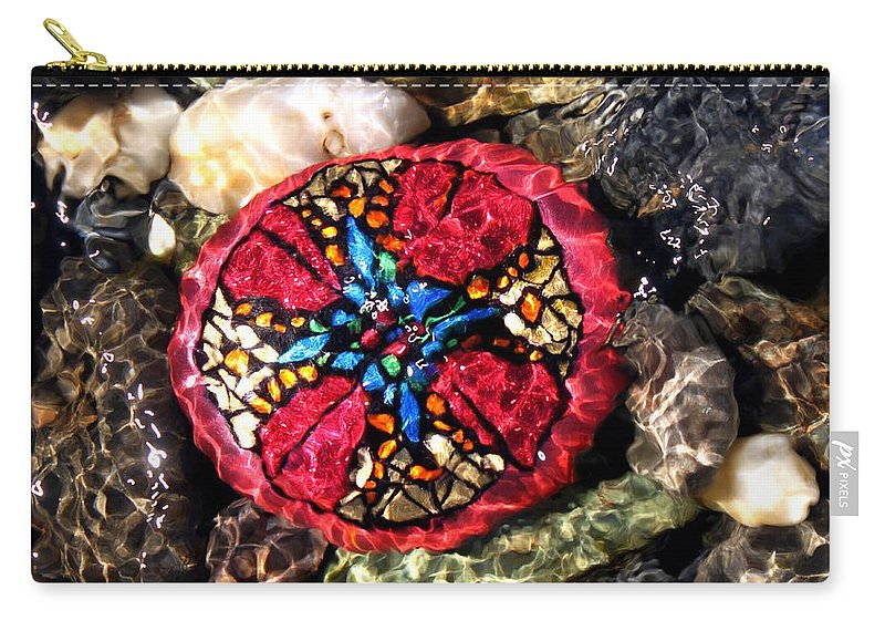 Carry-all Pouch featuring the photograph Masons Mosaic by Kathy Partak