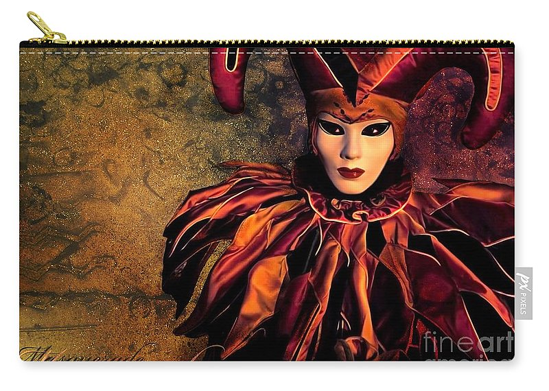 Mask Carry-all Pouch featuring the photograph Masquerade by Jacky Gerritsen