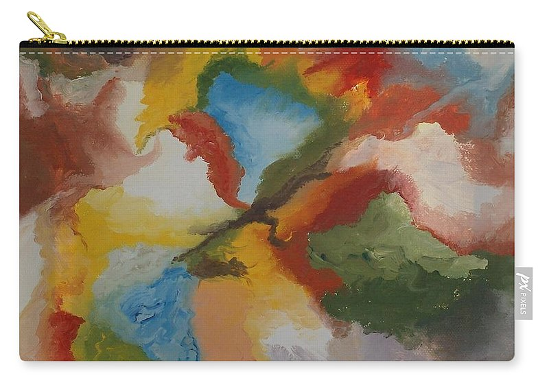 Modern Oil Painting Carry-all Pouch featuring the painting Master C by Georgeta Blanaru