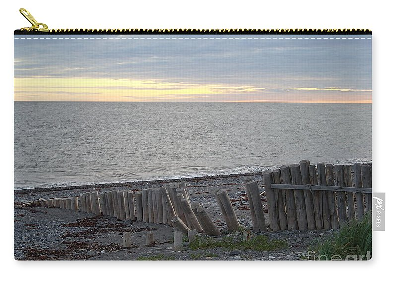 Seascape Carry-all Pouch featuring the photograph Matane In The Morning... by Line Gagne