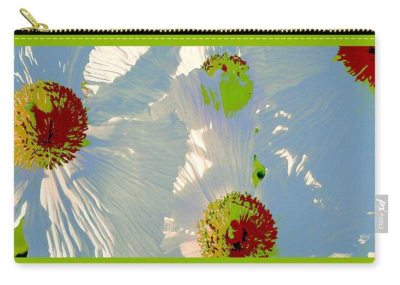 Floral Abstract Carry-all Pouch featuring the photograph Matilija Poppies Pop Art by Ben and Raisa Gertsberg
