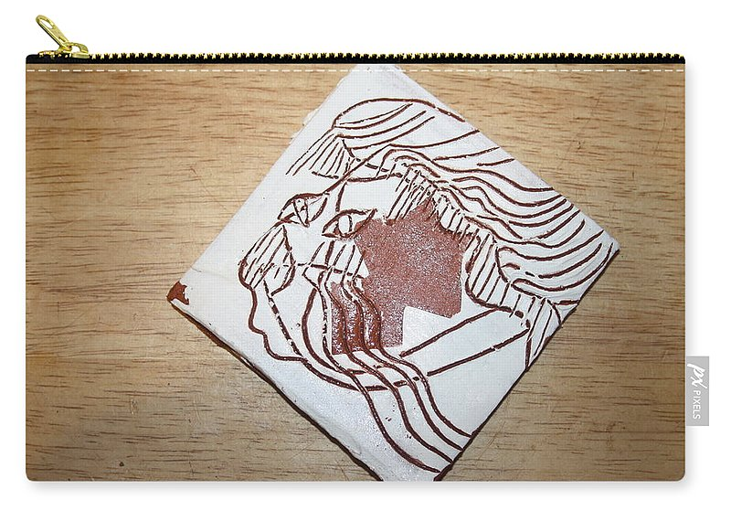 Jesus Carry-all Pouch featuring the ceramic art Matt - Tile by Gloria Ssali