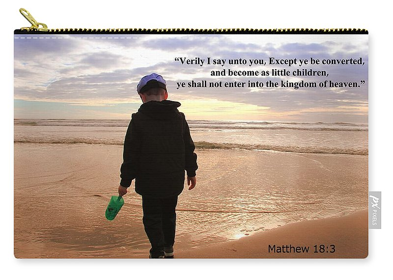 Christians Carry-all Pouch featuring the photograph Matthew Eighteen Three by Aaron Berg