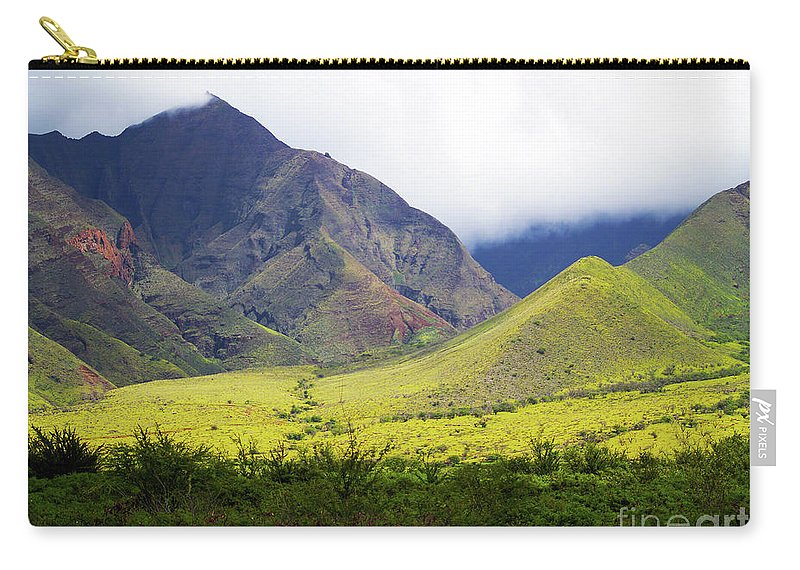 Fine Art Photography Carry-all Pouch featuring the photograph Maui Mountains by Patricia Griffin Brett